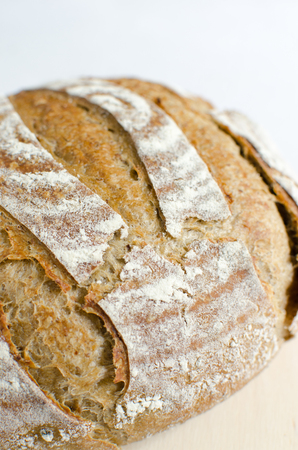 homemade bread: homemade bread leavened with mashed beans