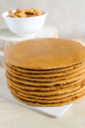 homemade cake: Honey homemade cake