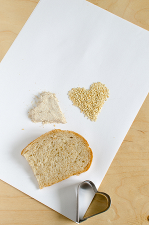 sesame seeds: Wheat bread with sesame seeds