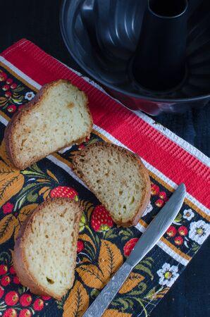mayonesa: Torta hecha en casa con mayonesa Foto de archivo