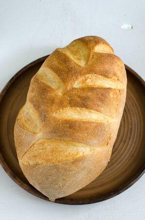 levadura: pan casero de trigo y levadura en la masa madre Foto de archivo
