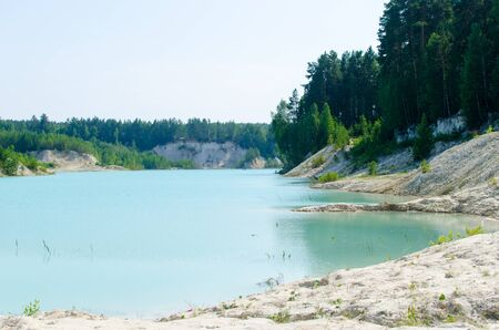 Kaolin quarry in the southern Urals in Russia