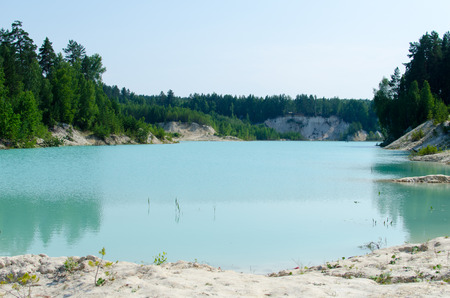 kaolin: Kaolin quarry in the southern Urals in Russia