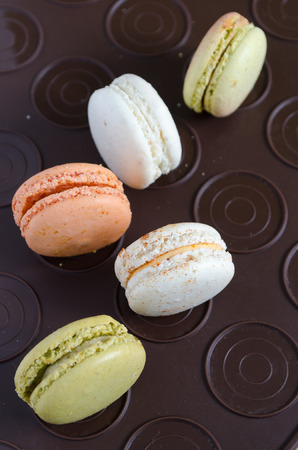 roquefort: macarons tomato-basil, lobster, tapenade, Roquefort, goat cheese