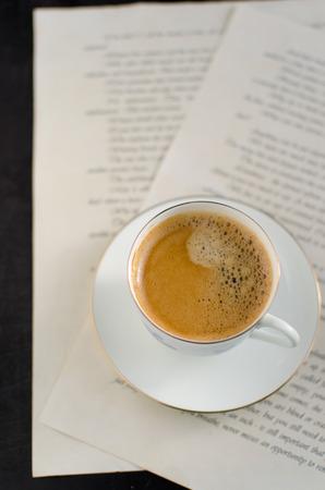 black: black coffee