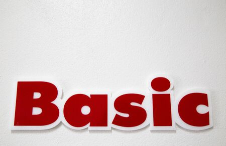 basics: The words Basics on white background.