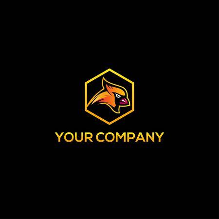 Cardinal colorful bird logo vector Logo