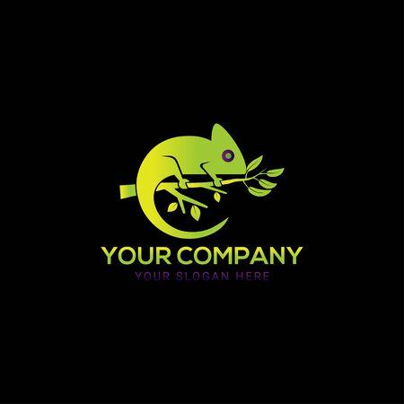 Creative chameleon logo vector