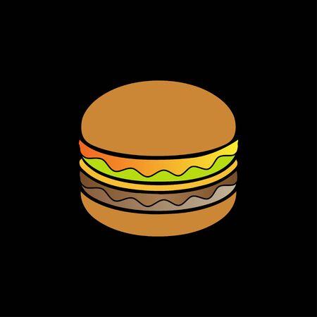 Creative hamburger logo design symbol vector