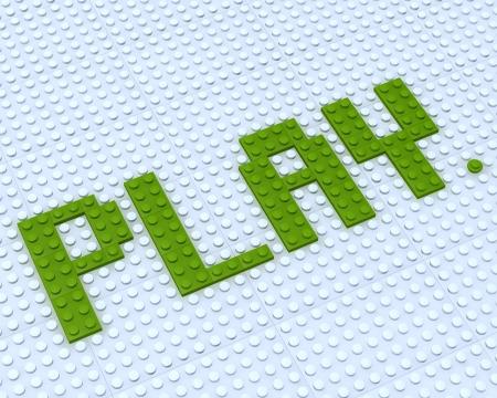 black block: Constructor Lego juego de palabras sobre fondo blanco Foto de archivo