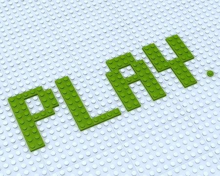Constructor Lego Play word on white background