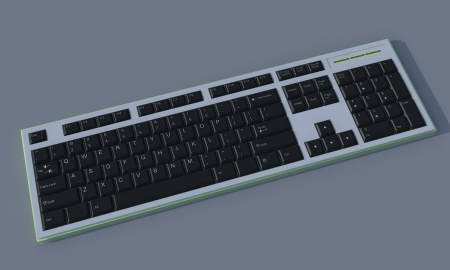 3D keyboard on dark background  Stock Photo