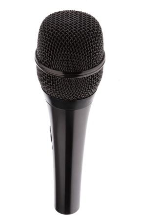 Black Karaoke Microphone isolated on white background