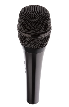Black Karaoke Microphone isolated on white background