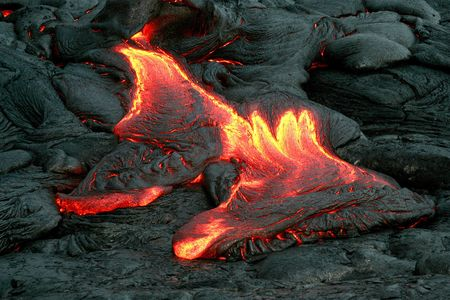 Double lava flow