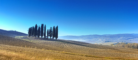Desert landscape of Tuscany Stock Photo