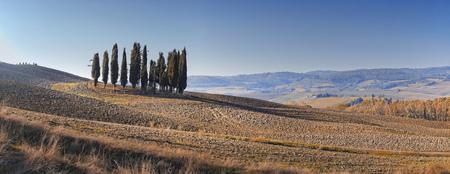 Desert landscape of Tuscany Stock Photo