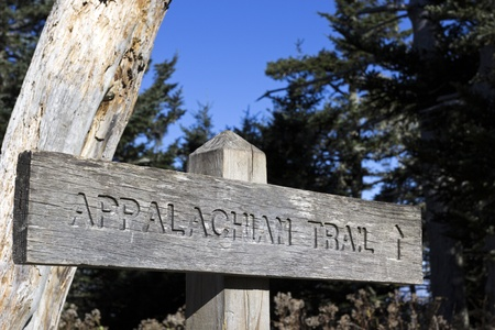 appalachian trail: Appalachian Trail wooden sign