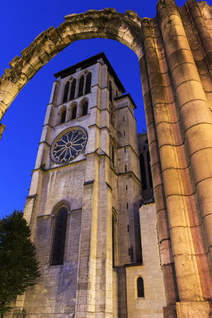 lyon: Lyon Cathedral in France in the morning