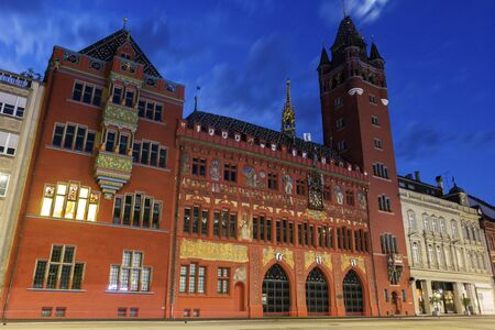 redbrick: Basel red-brick Town Hall in Switzerland