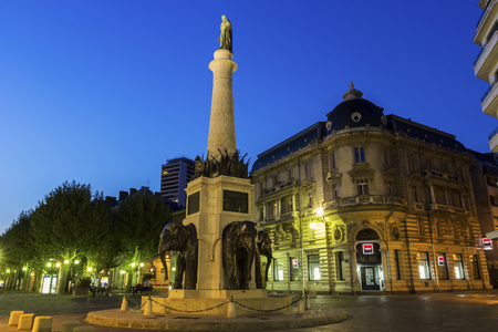 fontaine: Fontaine des Éléphants in Chambéry, France Stock Photo
