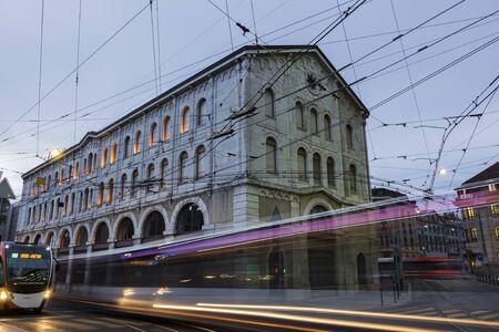 geneva: Buses in Geneva in Switzerland