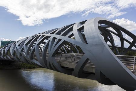 geneva: Pont Hans-Wilsdorf bridge in Geneva in Switzerland