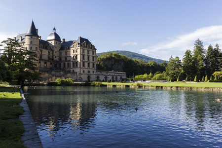 Castle in Vizille in France during a sunny day
