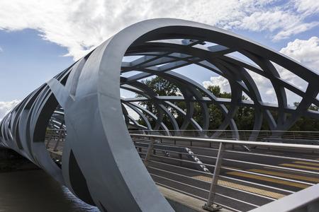 Pont Hans-Wilsdorf bridge in Geneva in Switzerland