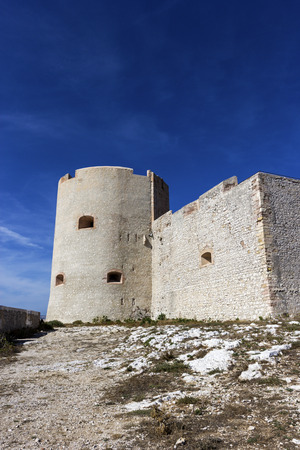 monte cristo: Castle of If in Marseilles in France on a sunny day Editorial