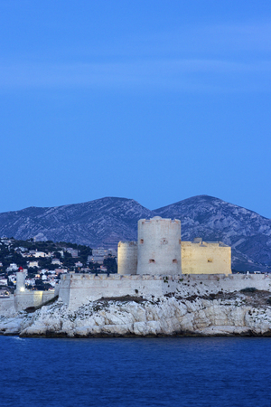 monte cristo: Castle of If in Marseilles in France in the evening