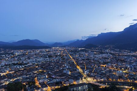 View on Grenoble in the evening, France Reklamní fotografie