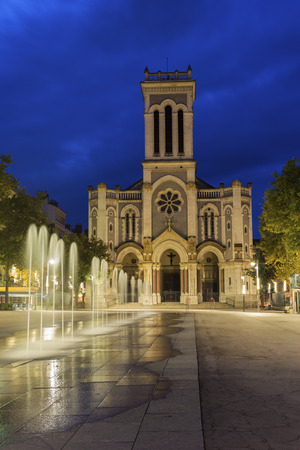 church tower: Saint-Etienne Cathedral, France Stock Photo