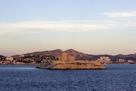 monte cristo: Castle of If in Marseilles in France at sunset