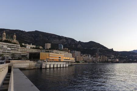 carlo: Monte Carlo in Monaco in the morning Stock Photo