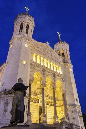 re design: Basilica of Notre-Dame in Lyon, France Stock Photo
