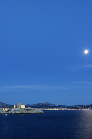castle if: View on Castle of If in Marseilles in France in the evening Editorial