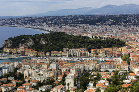 sea port: Port of Nice in France in the afternoon Stock Photo