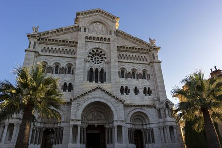 nicholas: Saint Nicholas Cathedral in Monaco during a sunny morning