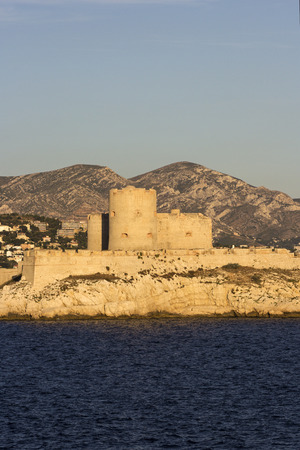 castle if: Castle of If in Marseilles in France at sunset