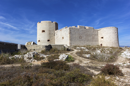 castle if: Castle of If in Marseilles in France on a sunny day Editorial