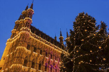 Magnificent City Hall of Leuven in Belgium