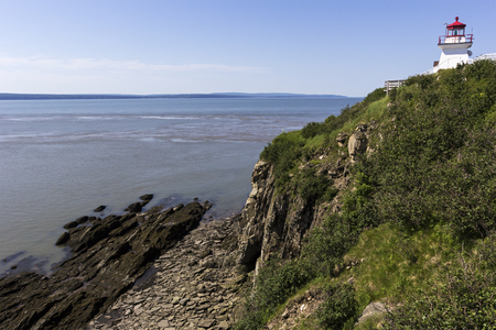 enrage: Cape Enrage Lighthouse in New Brunswick in Canada