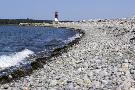 nova scotia: Pubnico Harbour Lighthouse in Nova Scotia, Canada Stock Photo