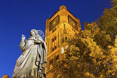torun: Nicolaus Copernicus Monument in Torun in Poland Stock Photo