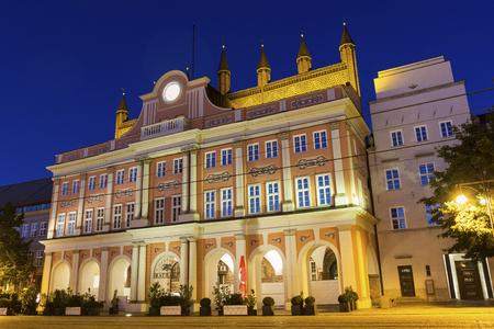 rostock: City Hall of Rostock in Germany