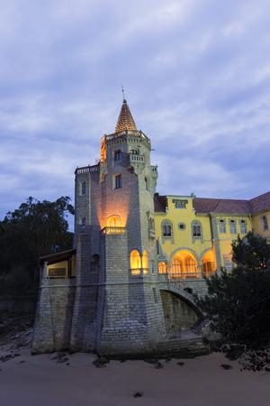 guimaraes: Palace Condes de Castro Guimaraes in Cascais in Portugal Editorial