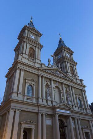 saviour: Cathedral of the Divine Saviour in Ostrava in Czech Republic Stock Photo