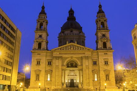 neo classical: St. Stephens Basilica in Budapest in Hungary Stock Photo
