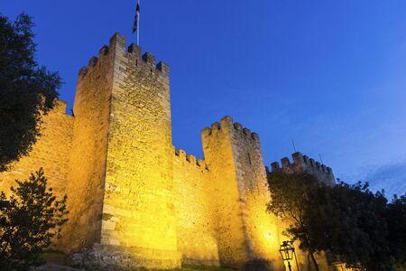 jorge: Sao Jorge Castle in Lisbon in Portugal